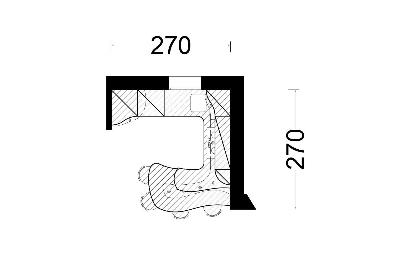 Cucina doppia altezza cucine curve di design midarte brianza - Altezza zoccolo cucina ...