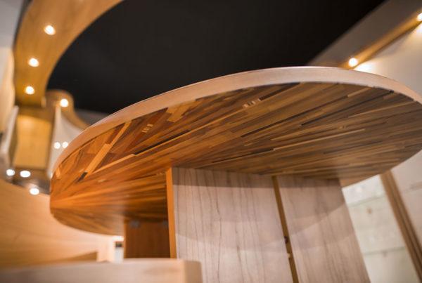 tavolo cucina con intarsi moderni Midarte