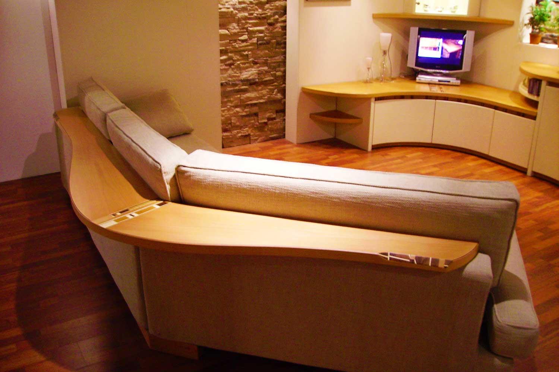 Soggiorno con divano angolare Crema Midarte
