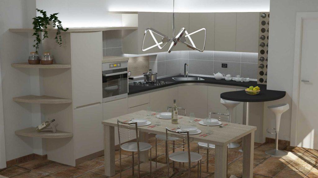 Progetto cucina personalizzata Lissone