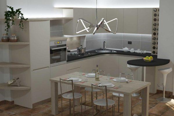 cucina con penisola moderna Milano