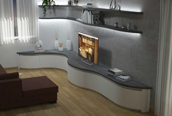 render soggiorno ad angolo moderno