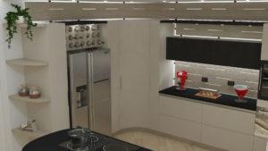 cucina-a-L-con-bancone-isola - Midarte