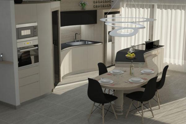 3 progetti di cucine con bancone: stessi modelli, risultati unici