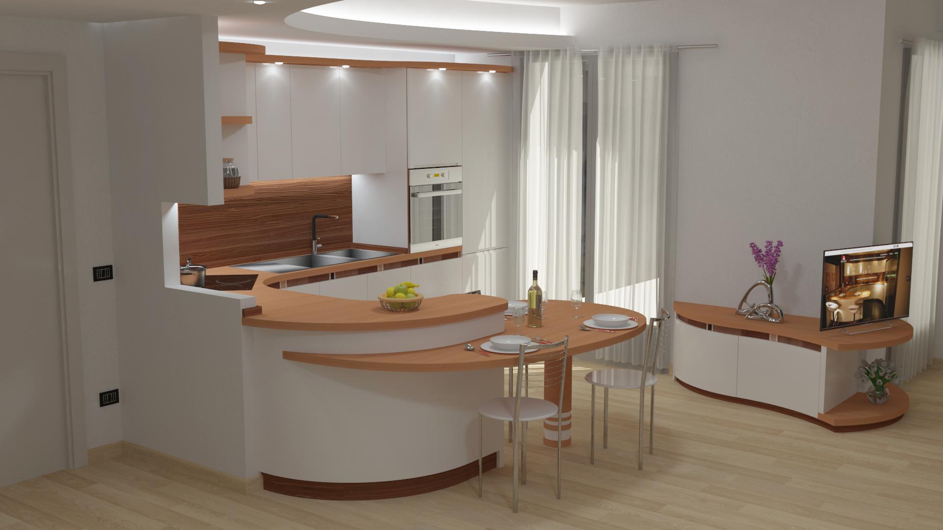 Render-cucina-soggiorno-appartamento-Milano_2 - Midarte